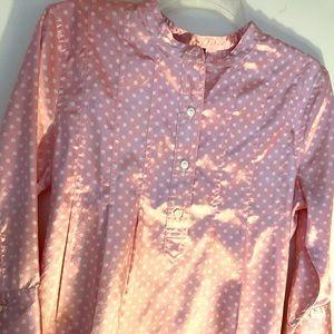Pink GAP polkadot 3/4 sleeve blouse S